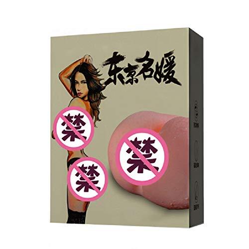 ZKKZ Solide Silikonpuppe mit großem Po, 3D-Arsch, Doppellochstimulation, Orgasmuspartikeln, weichem, elastischem, geheimem Transport