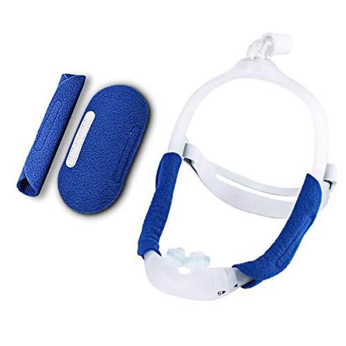 HYRL Paquete de 2 Almohadillas Protectoras para arnés de Cabeza con Ventilador Universal para CPAP   Antideslizante Cómodo previene Las Marcas y la sangría de la Diadema, Azul