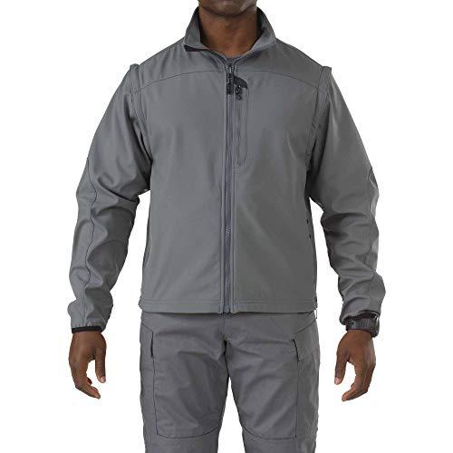 5.11 Veste tactique Valiant Soft Shell Light Patrol pour homme - Coupe-vent - Style 48167 Taille XXXL bleu nuit