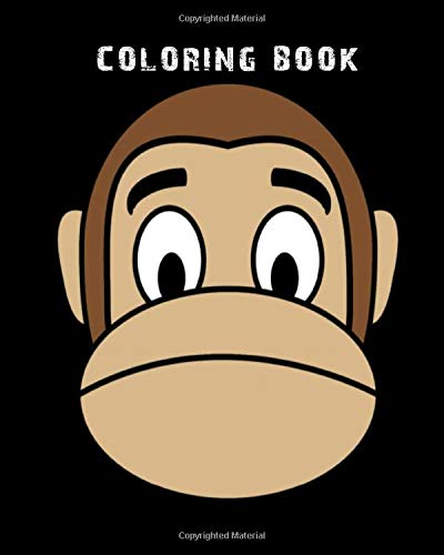 Coloring Book: monkey emoji sad - 59 pages - 8 x 10 inches