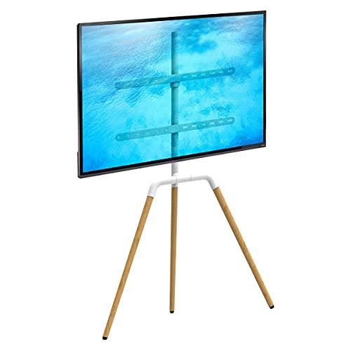 Ergosolid Tritonix - Soporte de Suelo para trípode de TV, Soporte de TV para 32 '- 65' Ajustable, Adaptador VESA (Tritonix, Blanco)
