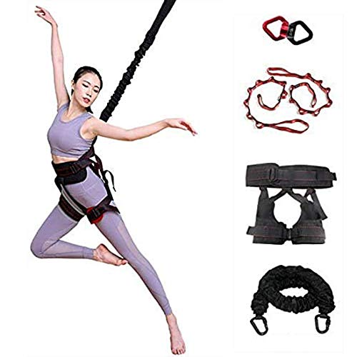 Upgraded Heavy Bungee Cord, Gravity Yoga Bungee Rope Tool Belt Resistance Belt for Home Gym Studio (Weight Grade 2:70kg)