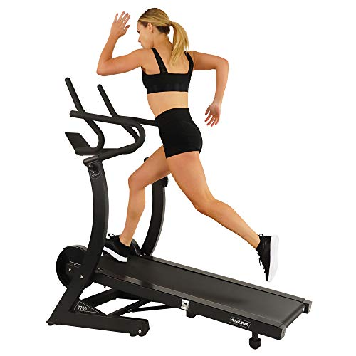 Sunny Health & Fitness 7700 Asuna High Performance Cardio Trainer, Manual Portable Treadmill with...