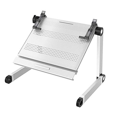 Foldable Laptop Desk, Ergonomic Computer Stand as Standing, Lightweight for Home Sofa Bed Office, Laptop Riser Reduces Neck Pain