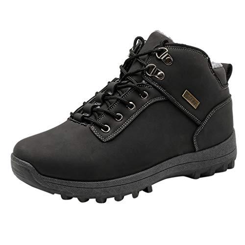 Zapatos de Senderismo TOPKEAL Zapatos para Escalar Zapatillas Trekking al Aire Libre Deportivos Negros de Tallas Grandes