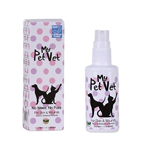 My Pet Vet Pronto-A-Spray Pet pelle problemi - veterinario Formula, atossico, indolore, trattamento per infezioni da lieviti e batteri. Tutto naturale, senza sostanze chimiche. Promuove la guarigione