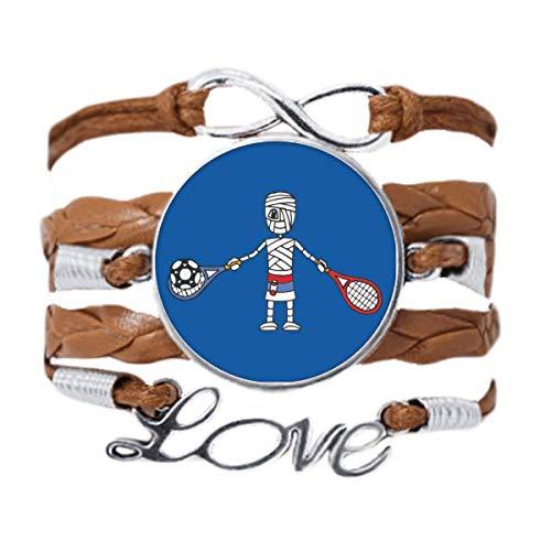 DIYthinker Pulsera de raqueta de tenis serbia, diseño de dibujos animados, para regalo