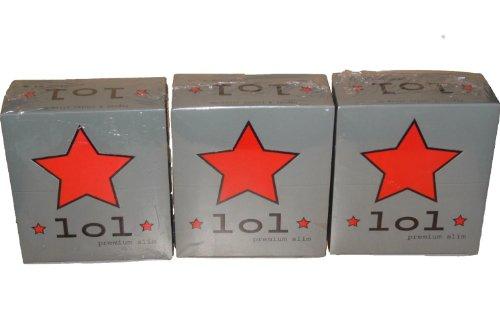 * LoL * King Size premium slim 3 Boxen / Display = 150 Hefte / Booklets / Heftchen lange Papers Longpapers Box 150 x 32 Blättchen