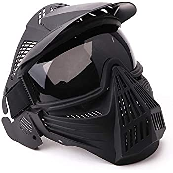 NINAT Tactical Paintball Mask Airsoft Masks Full Face with Lens Goggles Eye Protection for CS Survival Games Airsoft Shooting Halloween Cosplay Safety Mask Black Green Tan Grey