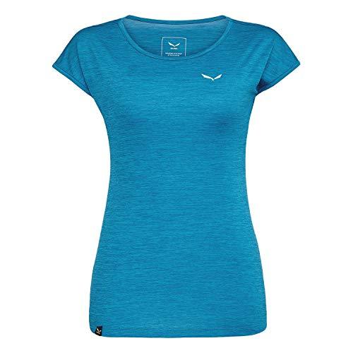 Salewa Damen Puez Melange Dry W S/S Tee Blusen & T-shirts, Ocean, 40/34