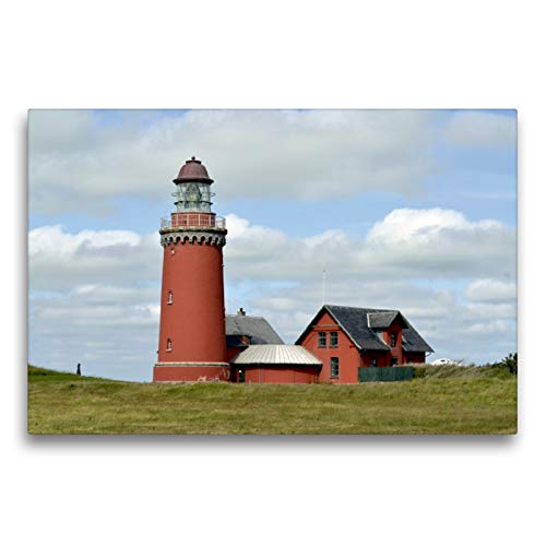 Premium Textil-Leinwand 75 x 50 cm Quer-Format Bovbjerg Fyr (Dänemark)   Wandbild, HD-Bild auf Keilrahmen, Fertigbild auf hochwertigem Vlies, Leinwanddruck von Werner Prescher