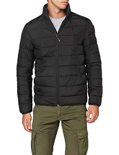 TOM TAILOR Denim Herren Lightweight Outdoor Jacke, 29999-Black, S