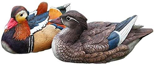 WQQLQX Statue Schwimmende Ente Federn Wildlife Dekoration Paar romantischer Vögel Teich Pool Dekoration Vielseitige Gartenschmuck Skulpturen