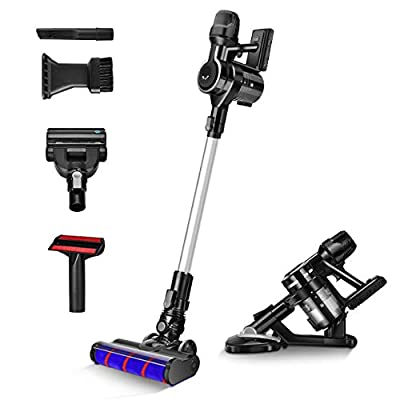 acum Cordless Stick Vacuum 23KPa Powerful Suction 6-in-1 Handheld Cleaner, Lightweight & 30min Lasting Runtime, Ideal for Hardwood Floor Carpet Mattress & Pet Hair Cleaning, Black