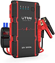 UTRAI Jump Starter Car Battery 13000mAh 1000A Power Bank Smart-Clip with Battery Detection for 12V Car Booster Jstar Mini