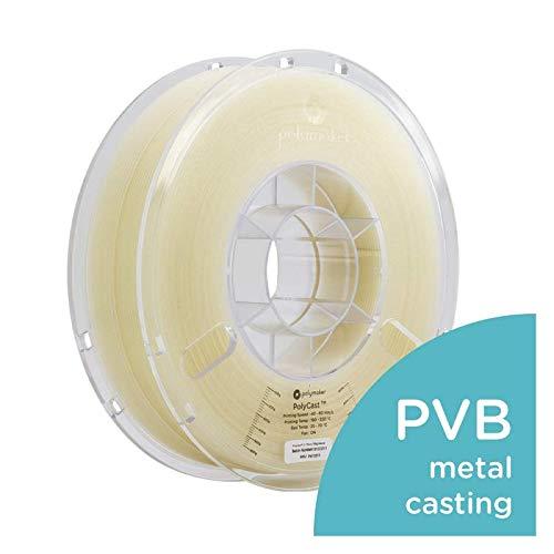 Polymaker PolyCast 3D Printer Filament, Designed for Investment Casting, Metal Casting, 750 g (1.65 lb) Spool, Natural Color, 1.75mm ± 0.05 mm …