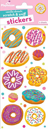 Playhouse Assorted Donuts Vanilla Scented Scratch & Sniff Sticker Sheets