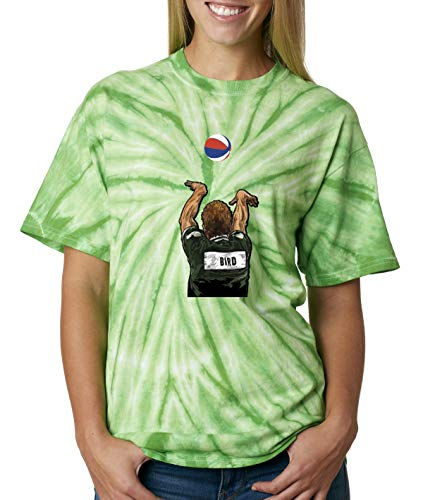 Shedd Shirts TIE-DYE Green Boston Larry Legend 3 Point Contest T-Shirt Adult