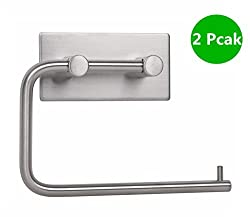 2 Pack VLV 304 Stainless Steel Toilet Tissue Holder -RUSTPROOF Forma Swivel Paper Holder for Kitchen