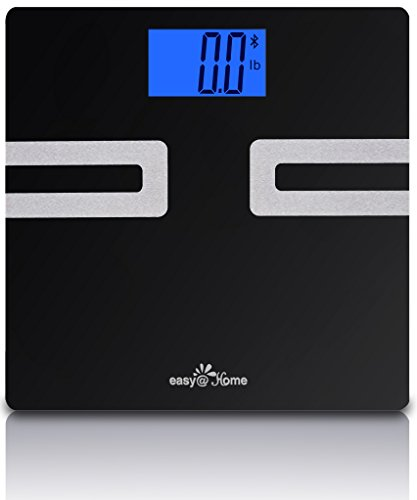 Lowest Prices! Easy@Home Bluetooth Body Fat Scale with FREE App for iPhone, iPad, iPod and Android smart phones and tablets; iOS 8 and HealthKit App is supported; CF350BT