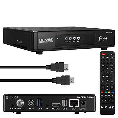 Hitube 4K Combo Pro UHD Linux E2 Satellite...