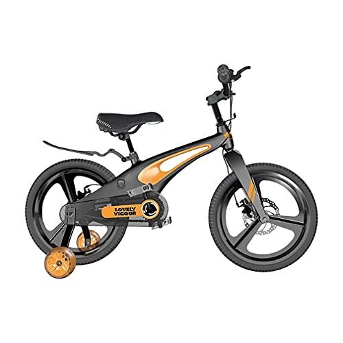 12/14/16/18 Pulgadas Bicis Infantiles Bicicletas NiñOs,Rueda Auxiliar Desmontable Bicicleta Ligera De AleacióN De Magnesio De Una Pieza Adecuada para NiñOs De 2 A 9 AñOs