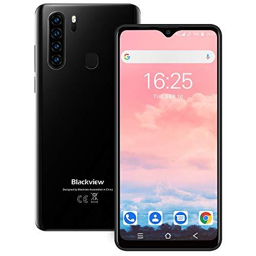 Blackview A80 Pro SIMフリー スマホ本体 4GBのRAM + 64GBのROM スマホ 4680mAh大容量バッテリー 6.49インチ 水滴型スクリーン 1300万画素+800万画素 4Gスマートフォン 格安スマホ デュアルSIM(Nano) 顔認証 指紋認証 技適認証済 1 付き(ブラック)
