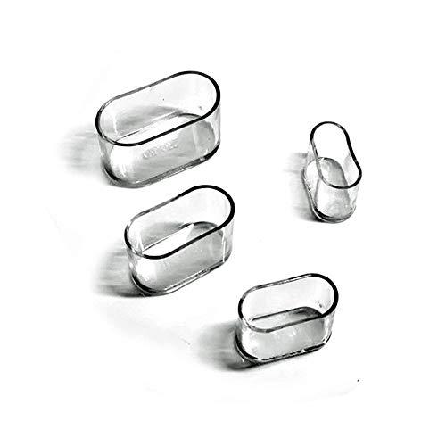 jjabc Coprigambe Sedia,Cuscinetti Piedi Ovali In Silicone Cuscini Tavolo Protezioni Graffi Sul Pavimento,8-24 pcs-Trasparente/24Pcs_15X30Mm