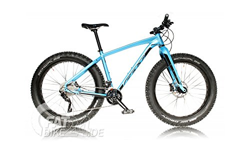 "FELT DD 30 Fat Bike Bicicleta de montaña con cambio XT, neumáticos Schwalbe Jumbo Jim y manillar de carbono modelo 2016 (M/18,5"")"