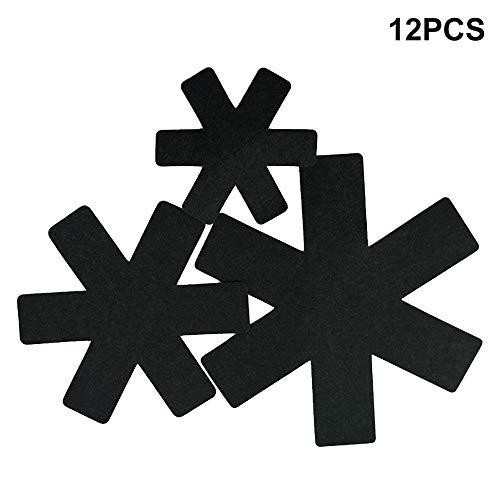 Vicsport Pfannen- und Topfschutz für antihaftbeschichtete Pfannen Töpfe aus Steingut, 12 Stück