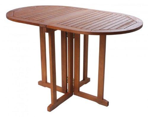 Table ovale de jardin en bois d'eucalyptus fSC huilé