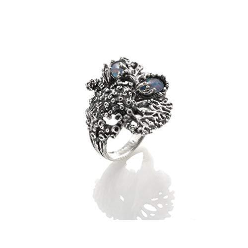 Giovanni Raspini Ring Nautilus maat 14 van 925 zilver, opaal en bergkristal