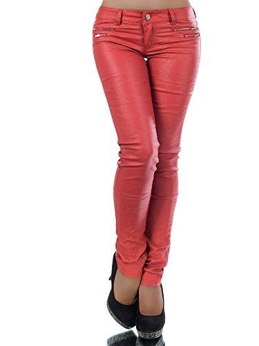 Damen Jeanshose Skinny L521, Größen 36 (S), Farben Rot