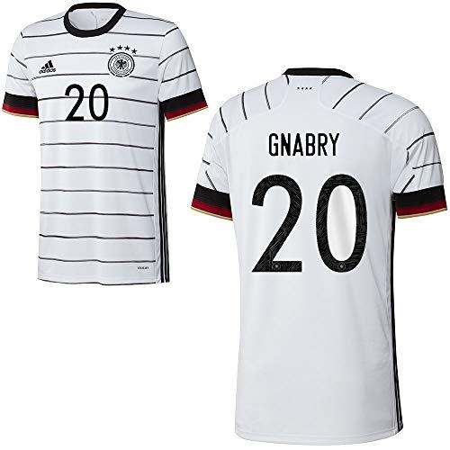 adidas Fußball DFB Deutschland Home Trikot Heimtrikot EM 2020 Kinder Gnabry 20 Gr 152