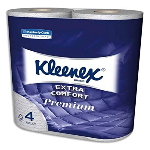 Kleenex Extra Comfort Toilettenpapierrollen Weiß Aquatube 4 (Lot von 2 Entweder Walzen 8)