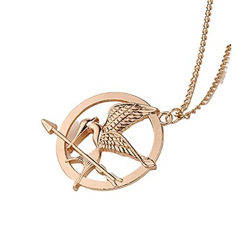 The Hunger Games Mockingjay Hombre Mujer Accesorios Collar Película Fan Gift Bronze