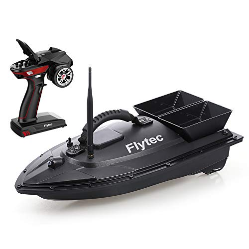 GoolRC Flytec V500 RC Boat, Fishing Bait Boat Fish Finder 1.5kg Loading 500M Remote Control Double Motor Night Light