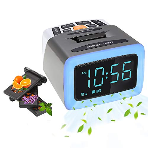 Product Image of the Olfactory Alarm Clock, Scent+Light+Sound Digital LED Clock with 4 Perfume...