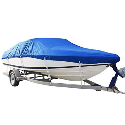 AGVER Cubierta De Barco Azul Cubierta De Barco Remolcable En Forma De V 210D Lancha Rápida De Esquí De Pesca Impermeable,17 to 19ft