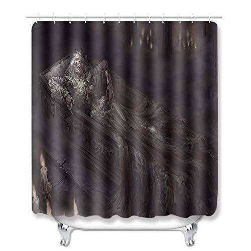Duschvorhang Batman Skelett Stuhl Blatt Textil Duschvorhang Anti-Schimmel Wasserabweisend Showercurtain 150*180Cm Top Qualität Wasserdicht, Anti-Schimmel-Effekt 3D Digitaldruck Inkl. 12 Duschvorh