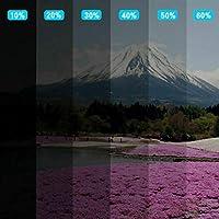 50%VLT 4ミルライトグレーカーウィンドウフィルムセラミック太陽色合い抗UV熱除去フィルムカーアクセサリーカー箔 (Size : 50x500cm)
