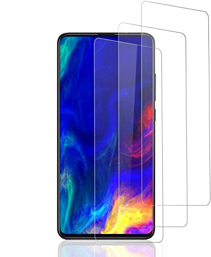 POOPHUNS 3 Stück Schutzfolie kompatibel für Xiaomi Mi 9T/9T Pro, HD Displayschutzfolie/Panzerfolie, Tempered Glas Schutzglas, Schutzfolie Screen Protector Glass, Kratzfest, Blasenfrei