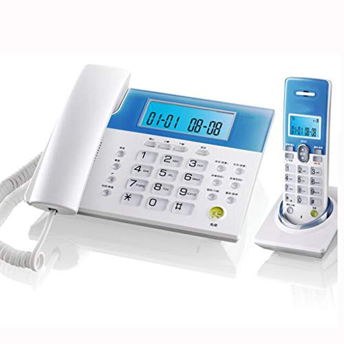 FLHAINVER Digital Cordless Telephone, one Machine, one for one, Wireless landline, Home Office Landline Home (Color : White)