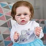 Vogvigo 22 Inch Reborn Baby Dolls,Newborn Lifelike Realistic Silicone Vinyl Dolls Set, Real Life Reborn Dolls for Age 3+