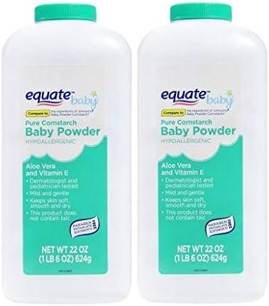 Pure Cornstarch Baby Powder Aloe and Vitamin E (22 oz - 2 Pack)