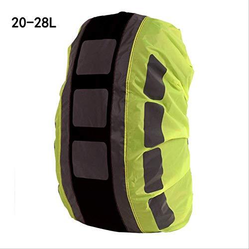 Generic Brands Sac à dos réfléchissant, housse de pluie, sac à dos de randonnée, sac à dos de voyage en plein air, sac à dos léger imperméable et durable Noir B 20-28 l
