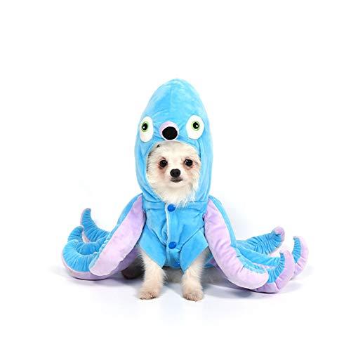 Mogoko Dog Cat Octopus Costumes, Pet Halloween Cosplay Dress, Funny Octopus Costume for Dogs