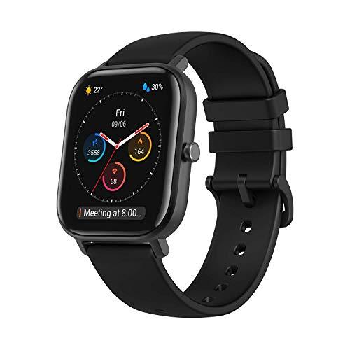 Amazfit Smartwatch GTS Farbdisplay Sportuhr Fitness Armbanduhr 5 ATM wasserdicht Stoppuhr mit GPS, Schrittzähler, Schlafmonitor, 12 Sportmodi für Damen Herren Sport