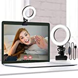 Video Conference Lighting Kit, Firbon Ring Light for Laptop with 3 Switchable Light Modes for Zoom Meeting, Remote Working, Live Streaming, Online Teaching, Vlogging