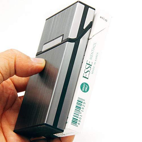 スリムタバコ20本収納アルミシガレットケース軽量葉巻保護カバー夏場汗対策[並行輸入品]